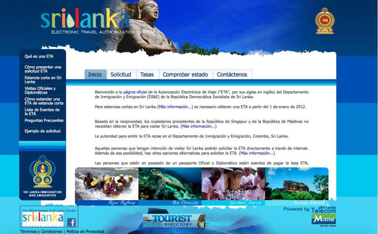 Visado Para Sri Lanka