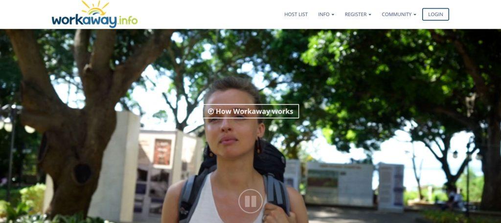 Pagina de inicio de workaway