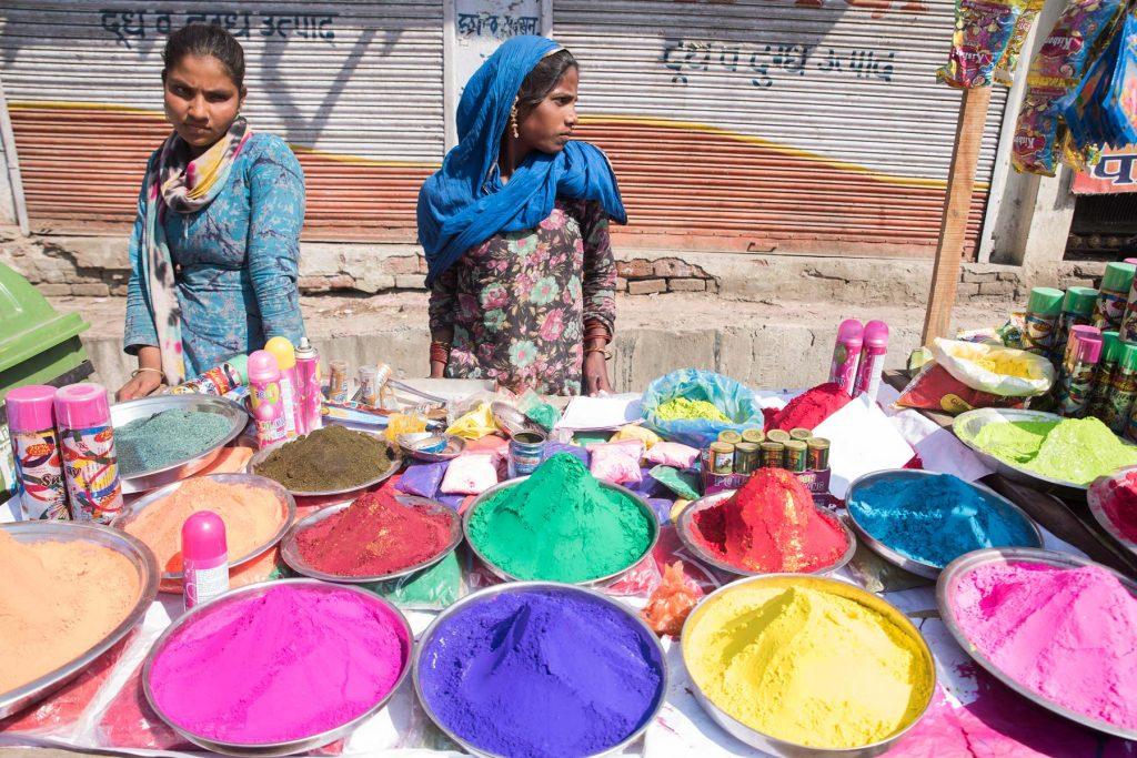 Holi fest en Mathura