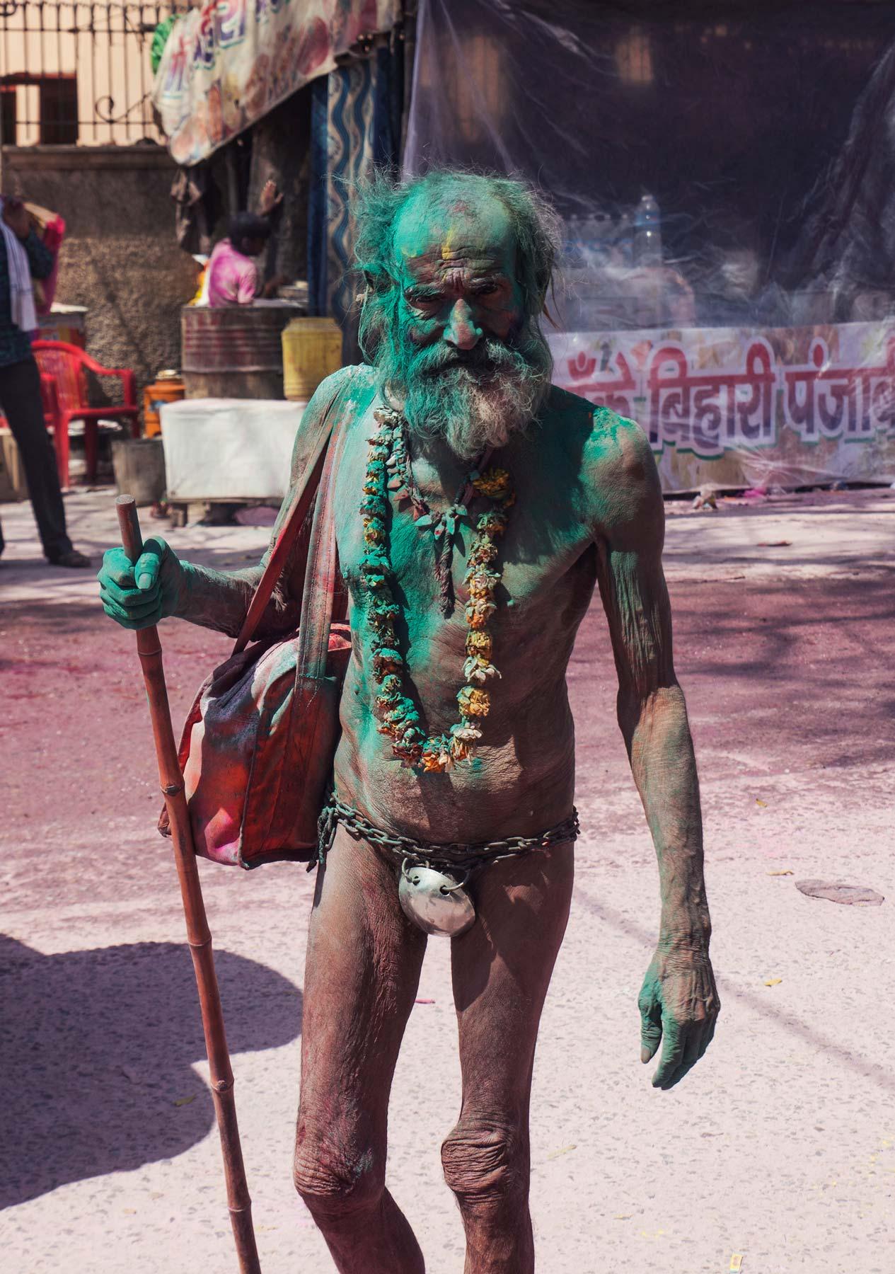 Celebración en la calle del Festival Holi