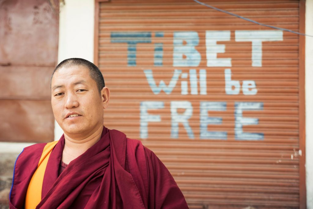 Monje Budista en Mcleod Ganj